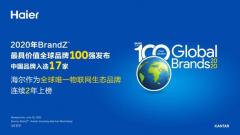 海尔蝉联2020年BrandZ全球品牌百强,物联网生态品